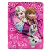 Disney Frozen Springtime Silk Touch Plush Throw