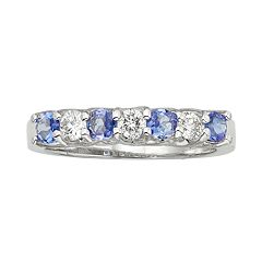 The Regal Collection Tanzanite & 1/3 Carat T.W. IGL Certified Diamond 14k White Gold Ring