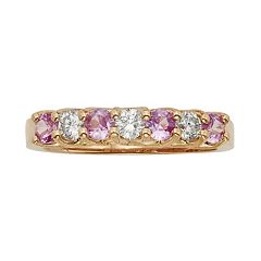 The Regal Collection Pink Sapphire & 1/3 Carat T.W. IGL Certified Diamond 14k Rose Gold Ring