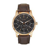 Citizen Eco-Drive Men's Leather Watch