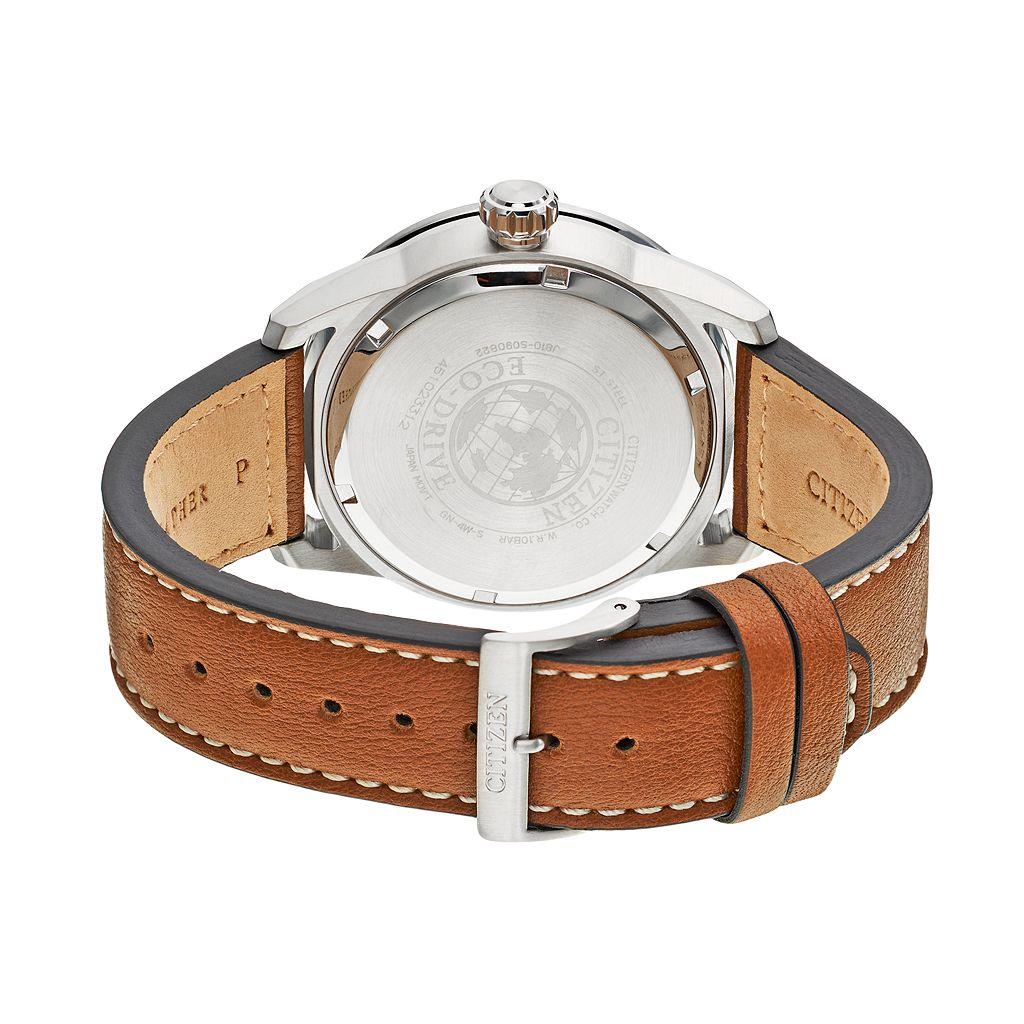Citizen Eco-Drive Men's Leather Watch