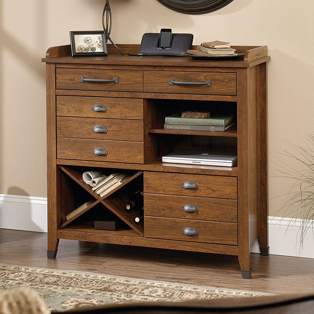 Carson forge collection sideboard console table sauder carson forge collection sideboard console table geotapseo Image collections