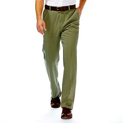 Men's Haggar® Work to Weekend® Classic-Fit Flat-Front No-Iron Expandable Waist Pants