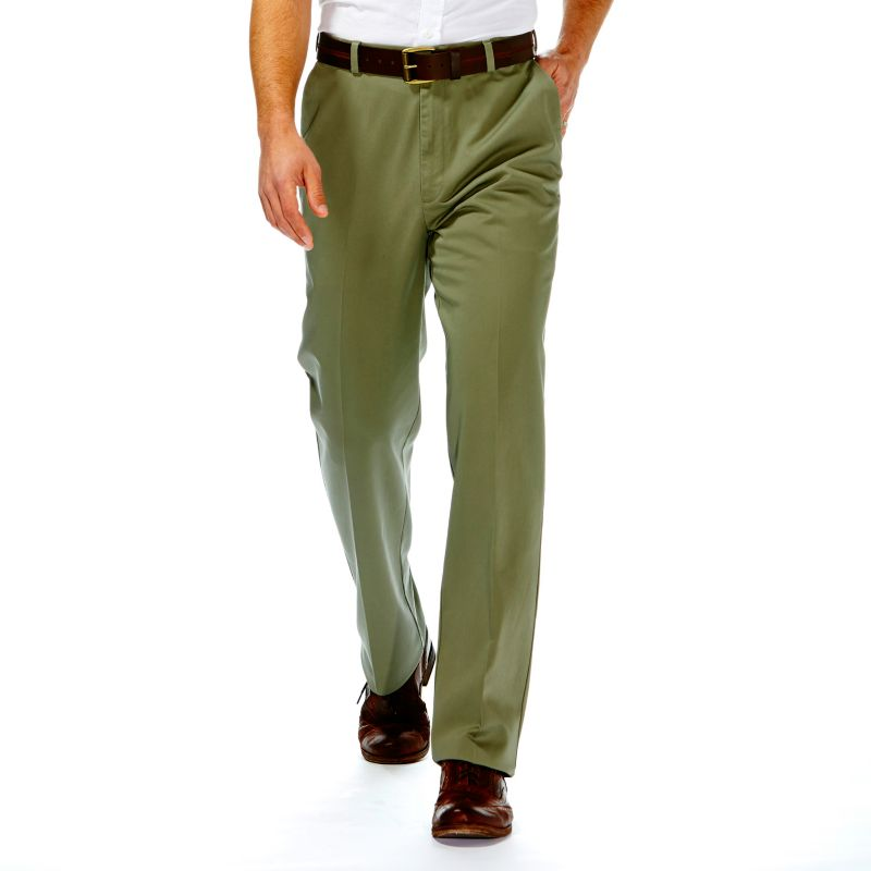 Haggar Work to Weekend Classic-Fit Flat-Front No-Iron Expandable Waist Pants - Men