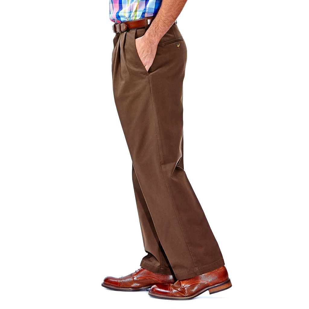 Men's Haggar® Work to Weekend® Classic-Fit Pleated Expandable Waist Pants