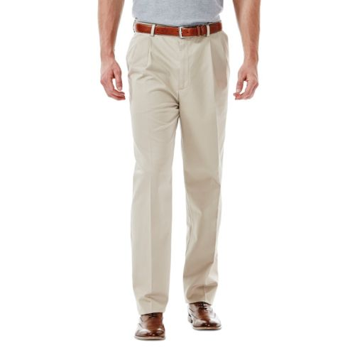 Haggar® Work to Weekend® Classic-Fit Pleated No-Iron Expandable Waist Pants - Men