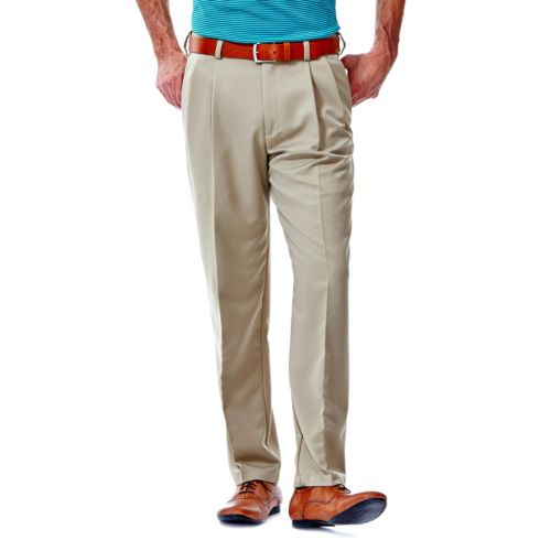 Haggar® Cool 18® Classic-Fit Pleated No-Iron Expandable Waist Pants - Men