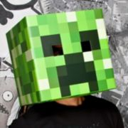 Minecraft Creeper Head Costume Mask - Adult