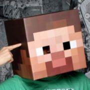 Minecraft Steve Head Costume Mask - Adult