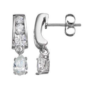 Sunstone 925 Sterling Silver Drop Earrings - Made with Swarovski Zirconia