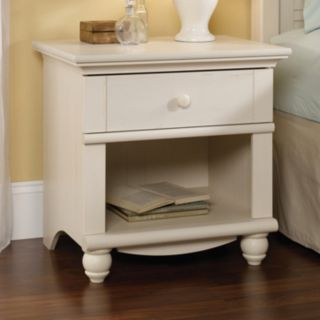 Sauder Harbor View Collection White Nightstand