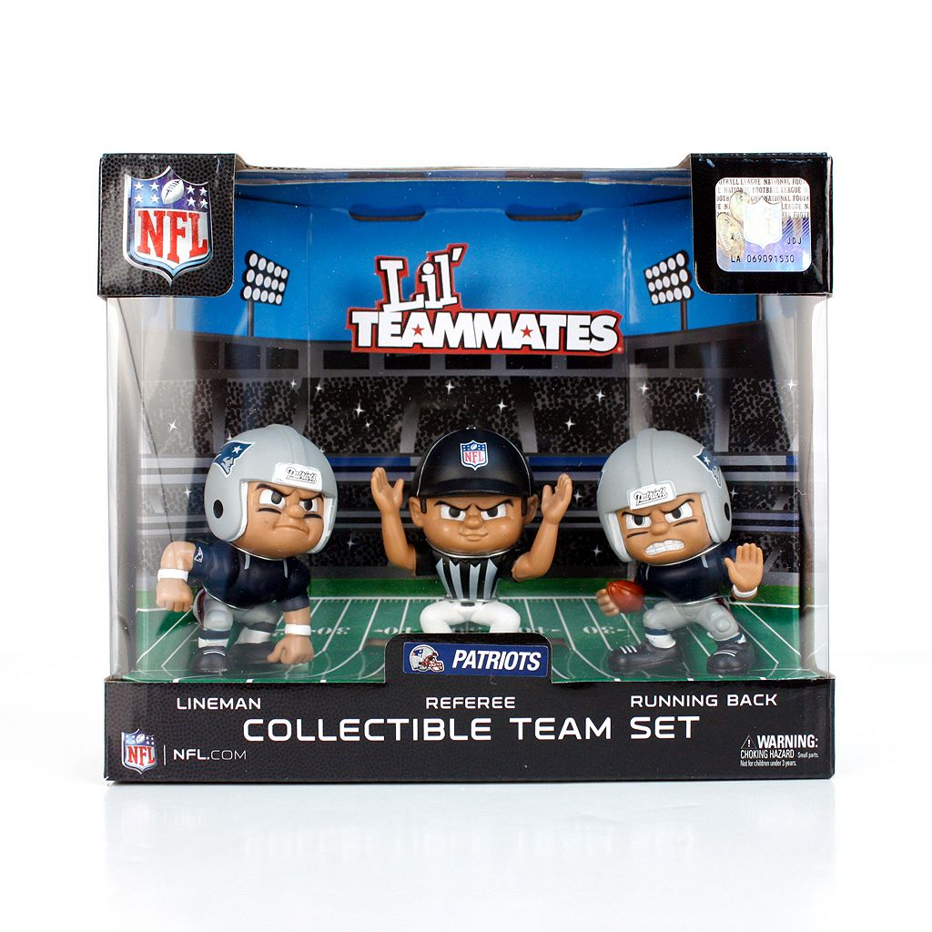 New EnglandPatriots 3-Pack Lil' Teammates Figures