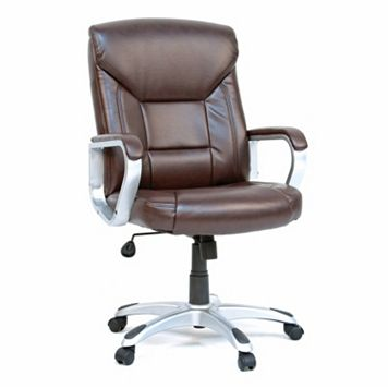 Sauder Gruga Deluxe Executive Leather Desk Chair