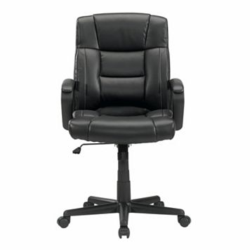 Sauder Gruga Leather Manager Desk Chair