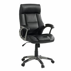 Sauder Gruga Tall Leather Manager Desk Chair