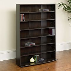 Sauder Media Storage 7-Shelf Bookcase
