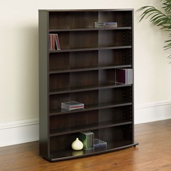 sauder media storage 7 shelf bookcase. Black Bedroom Furniture Sets. Home Design Ideas