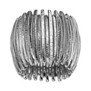 Jennifer Lopez Textured Vertical Bar Stretch Ring