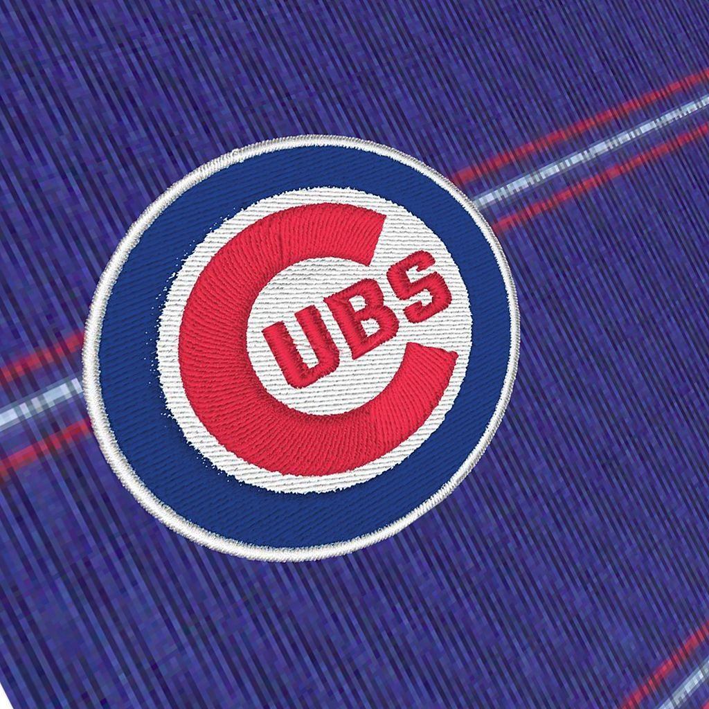 Men's Antigua Chicago Cubs Deluxe Striped Desert Dry Xtra-Lite Performance Polo