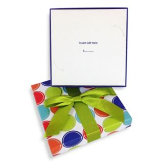 Gift Card Impressions Lidded Polka-Dot Gift Card Box