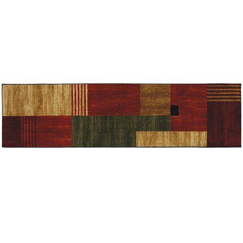 Mohawk 174 Home Alliance Geometric Squares Rug Runner