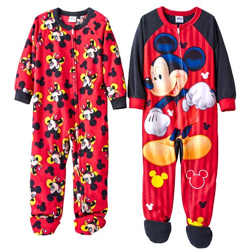 4c049d2397 Disney Mickey Mouse Fleece Footed Pajama Set - Toddler