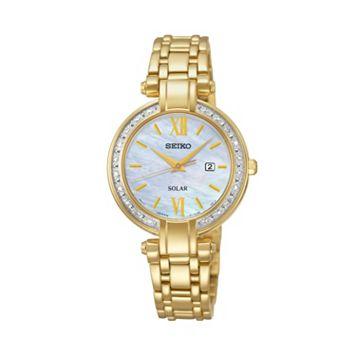 Seiko Women's Solar Tressia Stainless Steel Watch - SUT182