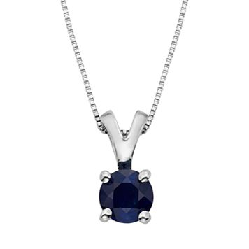 The Regal Collection Sapphire 14k White Gold Pendant Necklace
