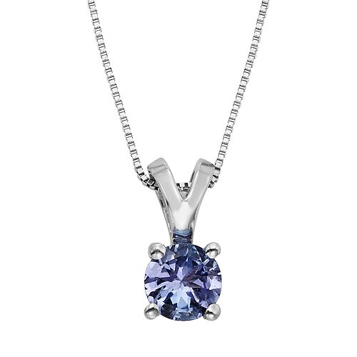 The Regal Collection Tanzanite 14k White Gold Pendant Necklace