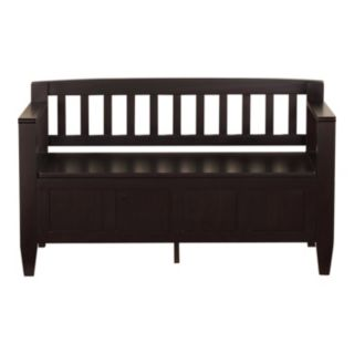 Simpli Home Brooklyn Storage Bench