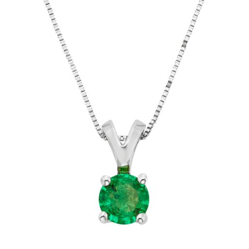 The Regal Collection Emerald 14k Gold Pendant Necklace