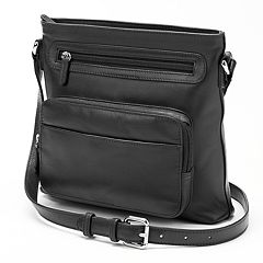 ili Top Zip Leather Crossbody
