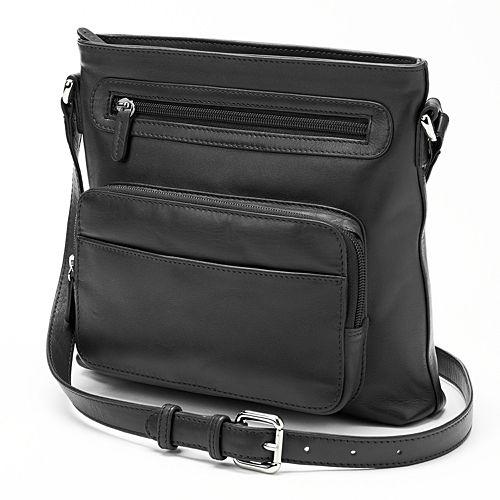 ili Top Zip Leather Crossbody