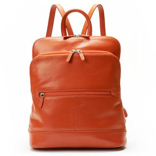 official sale highly praised clear-cut texture ili Adjustable Strap Leather Backpack
