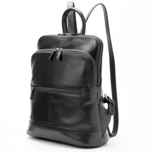 ili Adjustable Strap Leather Backpack