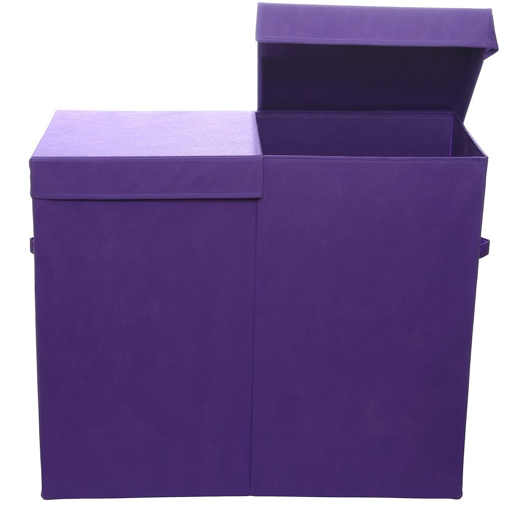 Modern Littles Folding Double Laundry Basket