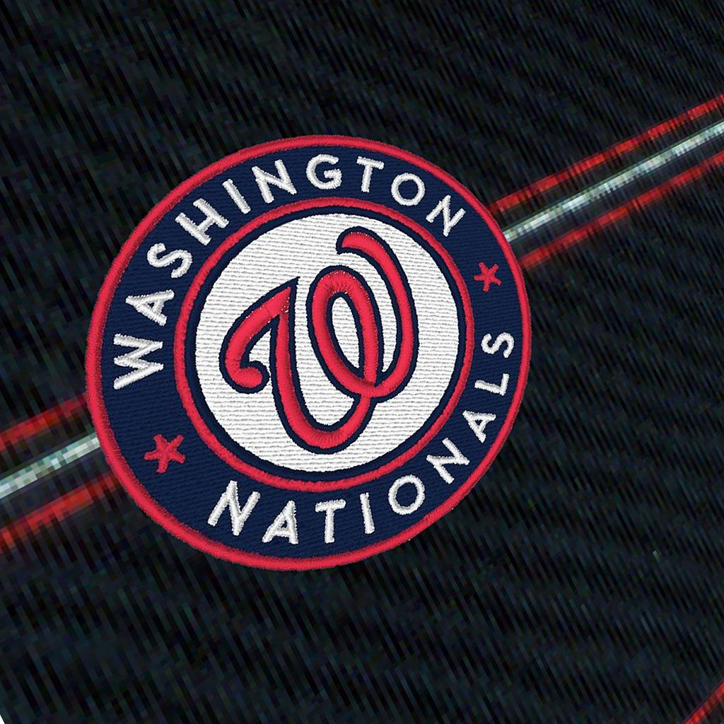 Men's Antigua Washington Nationals Deluxe Striped Desert Dry Xtra-Lite Performance Polo