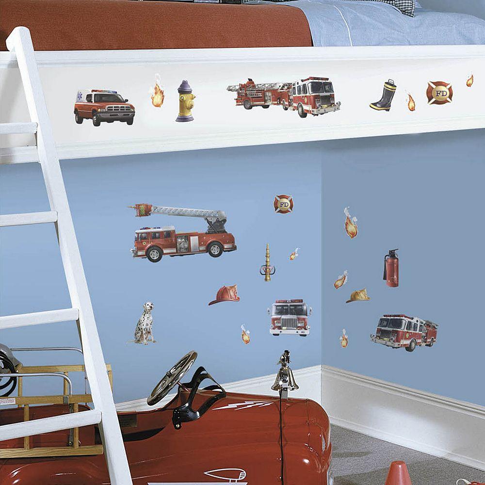 Fire Truck Peel & Stick Wall Decals