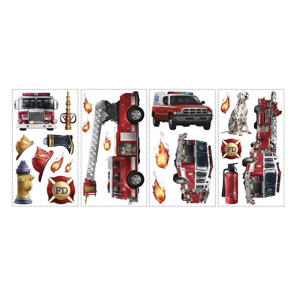 Fire Truck Peel and Stick Wall Decals