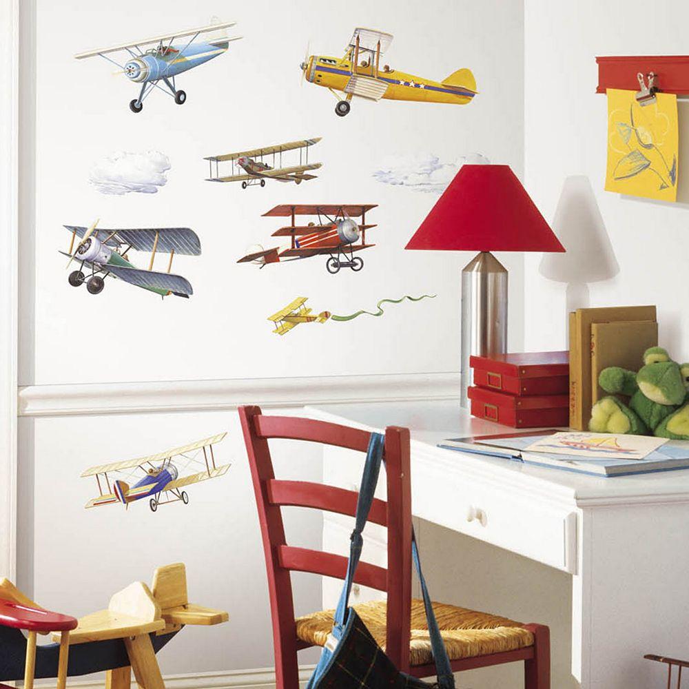 Vintage Planes Peel & Stick Wall Decals