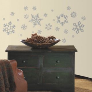 Glitter Snowflakes Peel and Stick Wall Decals