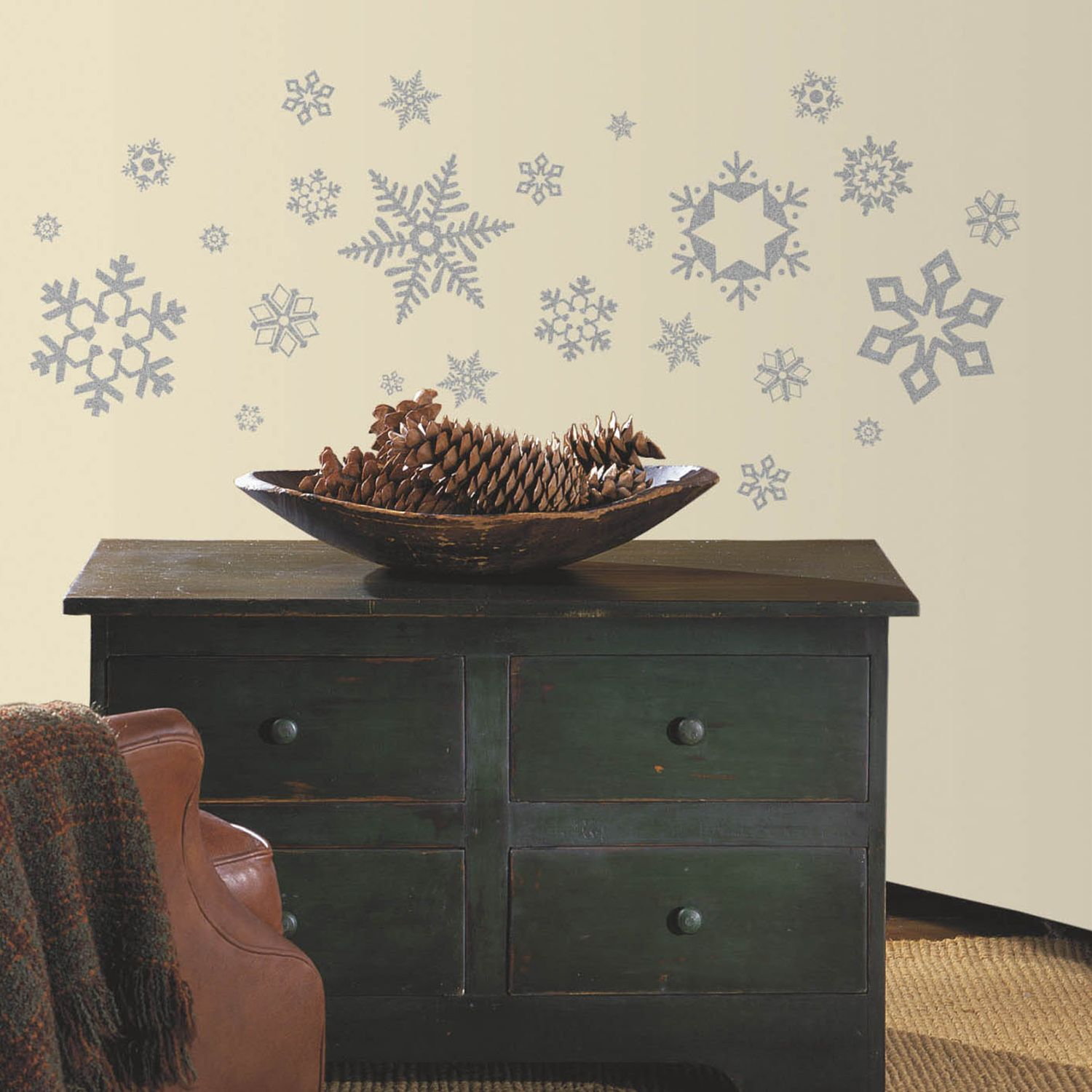 Awesome Glitter Snowflakes Peel U0026 Stick Wall Decals Part 31