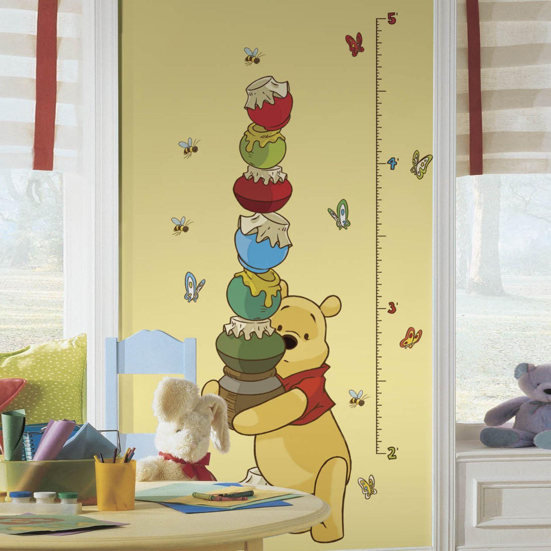 Disney Winnie The Pooh Growth Chart Peel U0026 Stick Wall Decals Part 20