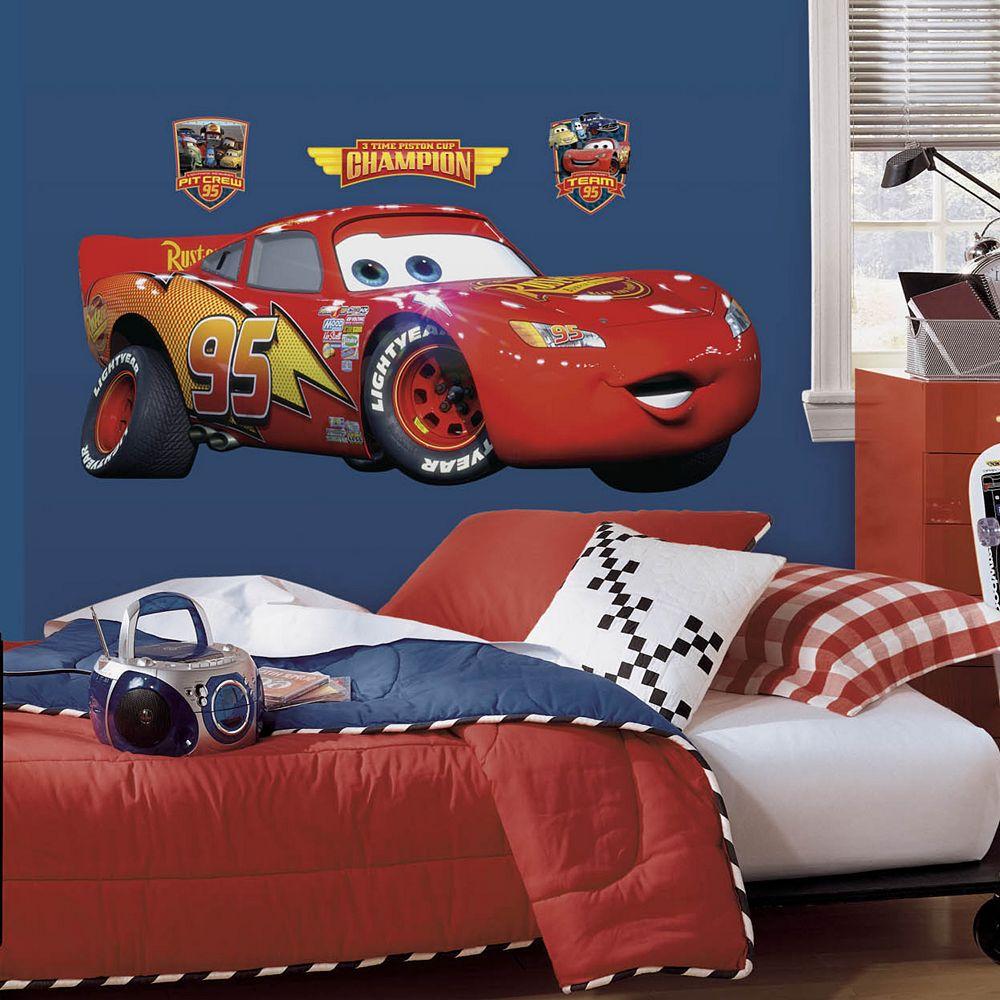Disney / Pixar Cars Lightning McQueen Peel & Stick Wall Decals