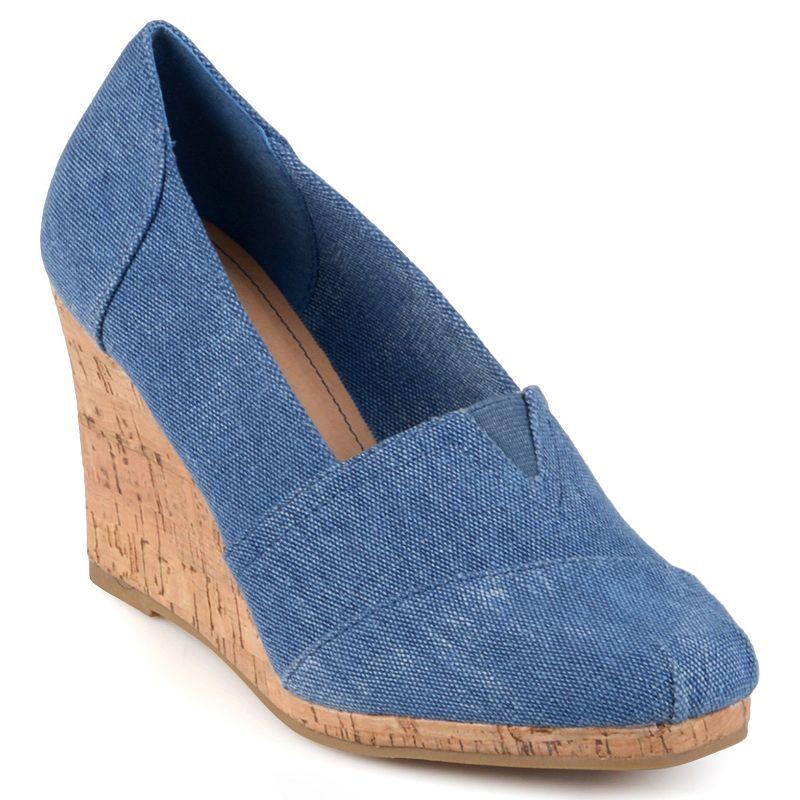 Journee Collection Blue Leah Women's Wedges