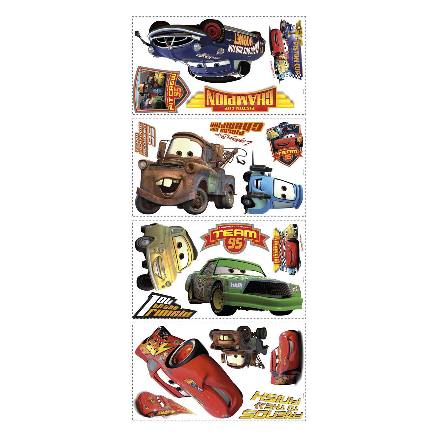 Lightning mcqueen wall decals home decor kohls amipublicfo Gallery