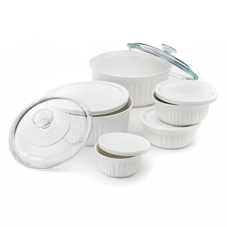 french white serveware set - Bakeware Sets
