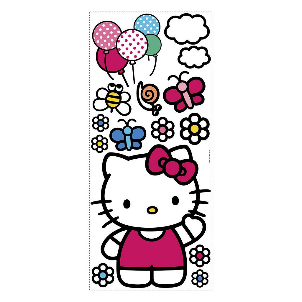 Hello Kitty Peel and Stick Wall Decals