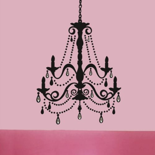 Jeweled Chandelier Peel and Stick Wall Decal