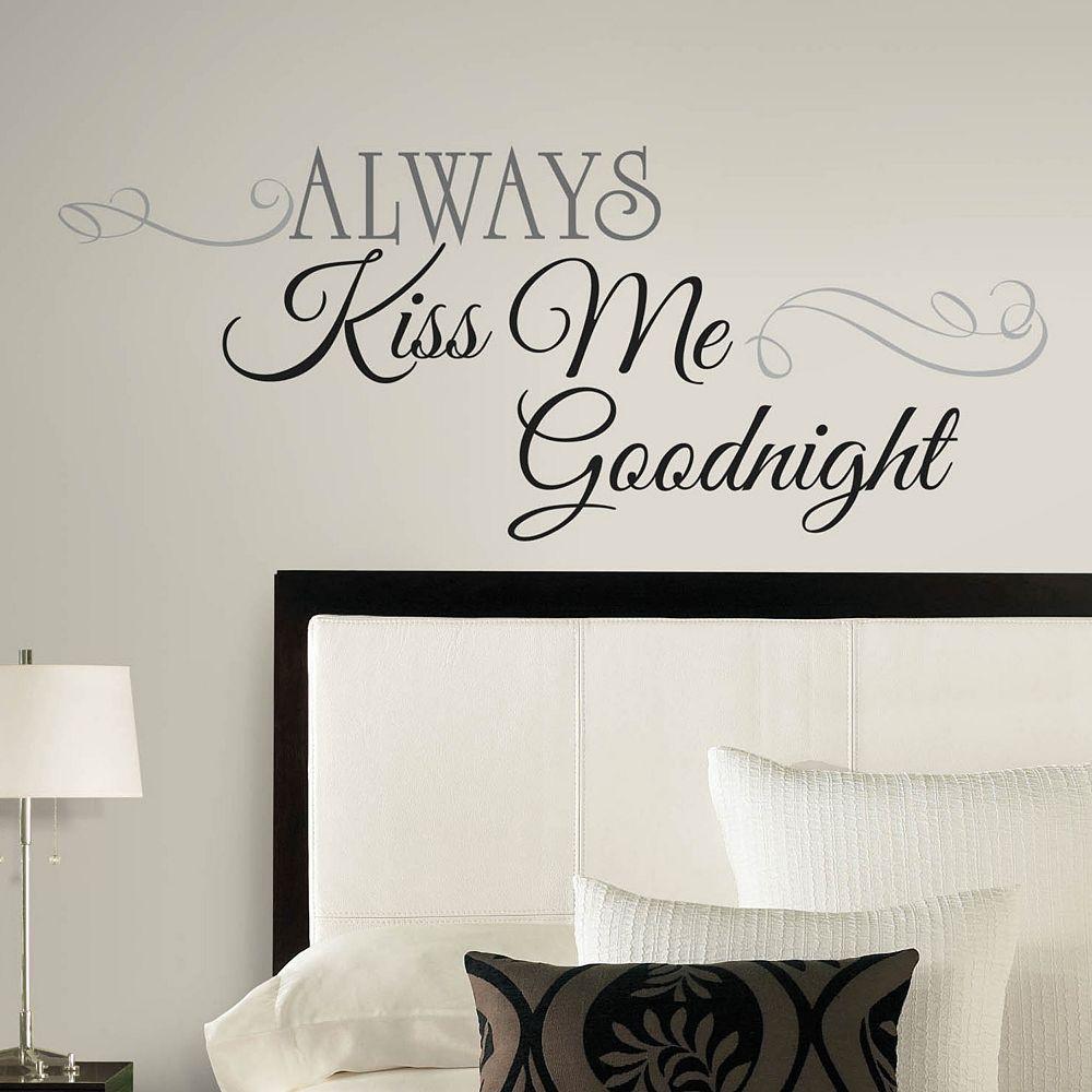 Always Kiss Me Goodnight Peel & Stick Wall Decal